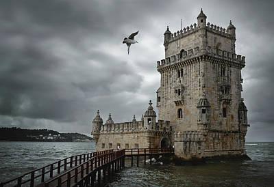Belem Tower, Lisbon Poster by Carlos Caetano