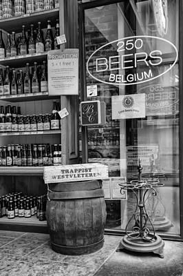 Belgian Beer Shop Poster by Georgia Fowler