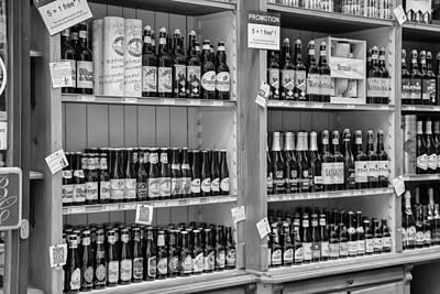 Belgian Beers In Mono Poster