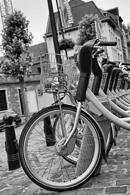 Belgian Bikes Poster by Georgia Fowler