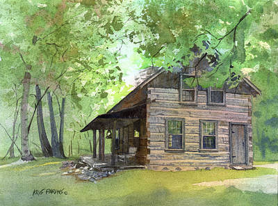 Poster featuring the painting Belgian Cabin by Kris Parins