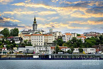 Belgrade Cityscape On Danube Poster by Elena Elisseeva