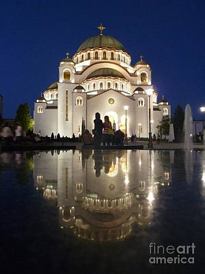 Poster featuring the photograph Belgrade Serbia Orthodox Cathedral Of Saint Sava  by Danica Radman