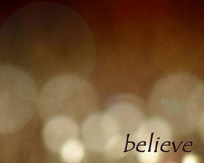 Poster featuring the photograph Believe by Cherie Duran