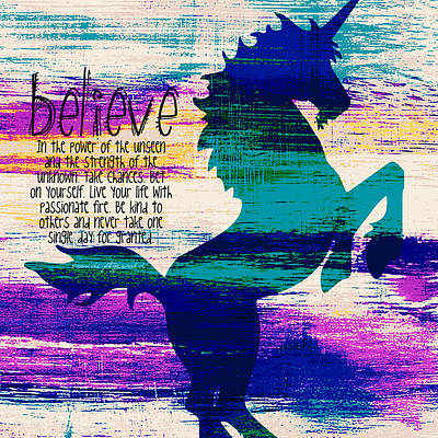 Believe In The Power Of The Unseen V2 Poster by Brandi Fitzgerald