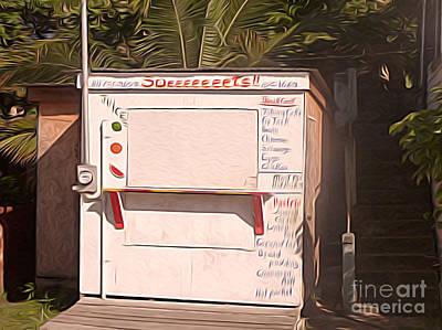 Belize - Sidewalk Breakfast Stand Poster
