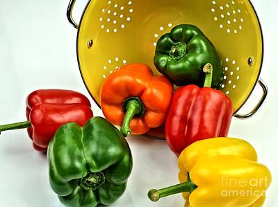 Bell Peppers Poster by Jimmy Ostgard