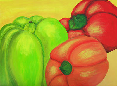 Bell Peppers Poster by M Valeriano