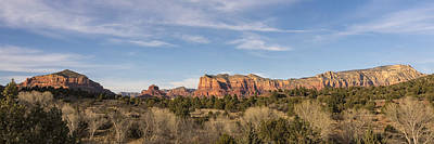 Bell Rock Morning Panorama - Sedona Arizona Poster by Brian Harig