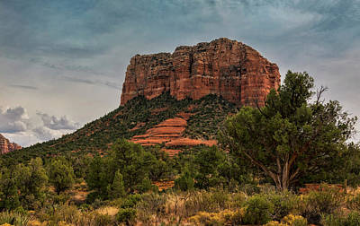 Poster featuring the photograph Courthouse Butte - Sedona  by Saija Lehtonen