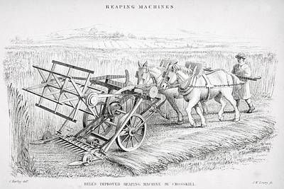 Bell S Improved Reaping Machine By Poster