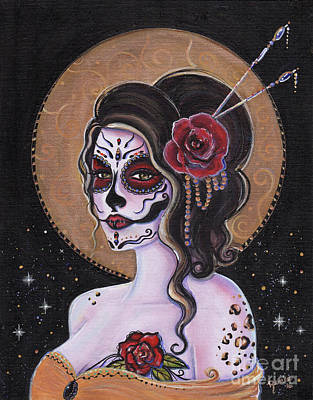 Bella Muerte Day Of The Dead Poster by Renee Lavoie