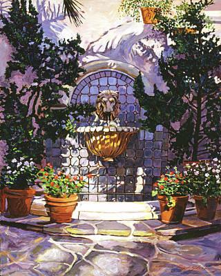 Bellagio Fountain Poster by David Lloyd Glover