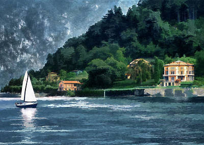 Bellagio Villa Poster by Jim Hill