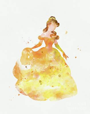 Belle Poster by Monn Print