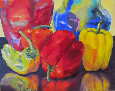 Belle Peppers Poster by Lisa Boyd
