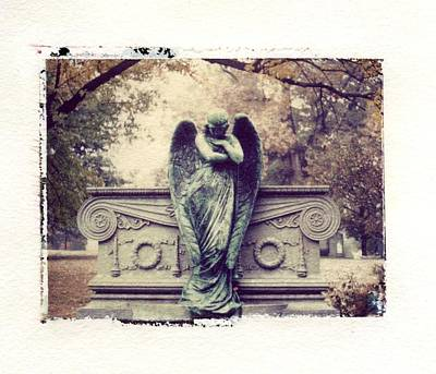 Bellefontaine Angel Polaroid Transfer Poster