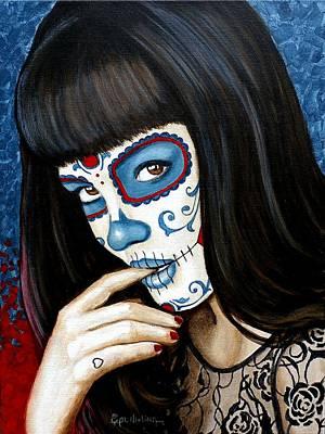 Poster featuring the painting Belleza De Encaje Y Corazo by Al  Molina