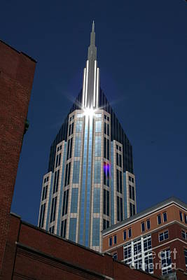 Poster featuring the photograph Bellsouth Tower - Nashville Tennessee by John Black