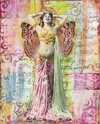 Poster featuring the mixed media Belly Dancer by Desiree Paquette