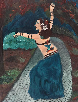 Belly Dancer In Forest Poster