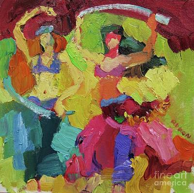 Belly Dancers Poster by Larisa Aukon
