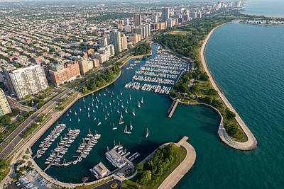 Belmont Harbor Chicago Poster by Steve Gadomski
