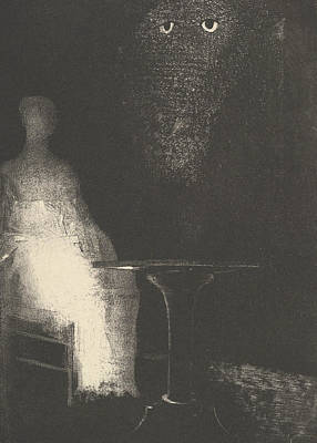 Below, I Saw The Vaporous Contours Of A Human Form Poster by Odilon Redon