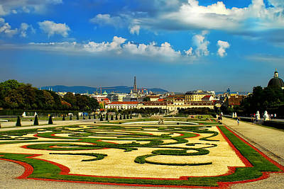 Poster featuring the photograph Belvedere Palace Gardens by Mariola Bitner