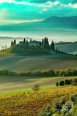 Poster featuring the photograph Belvedere - Tuscany II by Brian Jannsen