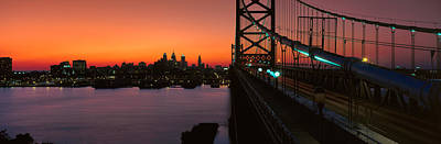 Ben Franklin Bridge Poster by Panoramic Images