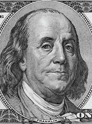 Ben Franklin Poster by Les Cunliffe