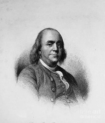 Ben Franklin Poster by Richard W Linford