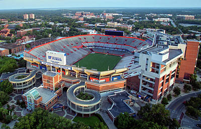 Ben Hill Griffin Stadium - Home Of The U Of Florida Gators Football Team Poster by Daniel Hagerman