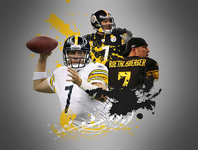Ben Roethisberger Steelers Poster by Joe Hamilton