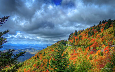Bend In The Road Blue Ridge Parkway Art Poster