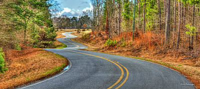 Bends In The Road Roadway Art Poster