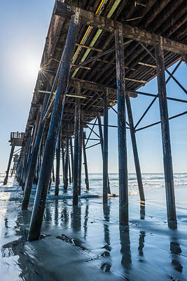 Beneath Oceanside Pier - California Coast Photograph Poster