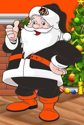 Bengals Santa Claus Poster by Joe Hamilton