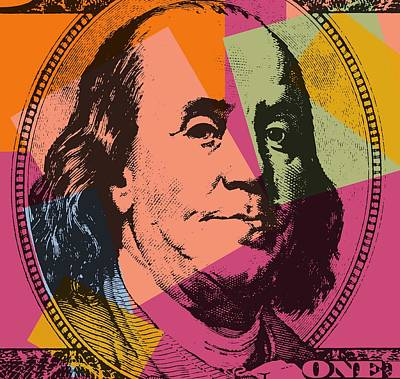 Benjamin Franklin Pop Art Poster by Dan Sproul