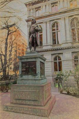 Benjamin Franklin Sketch Poster