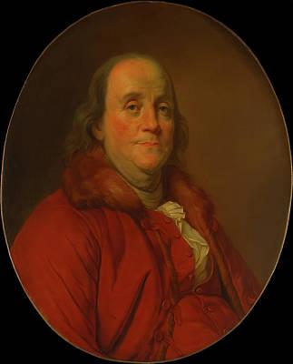 Benjamin Franklin Poster by Workshop Of Joseph Duplessis