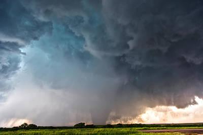 Poster featuring the photograph Bennington Kansas Tornado Structure by James Menzies