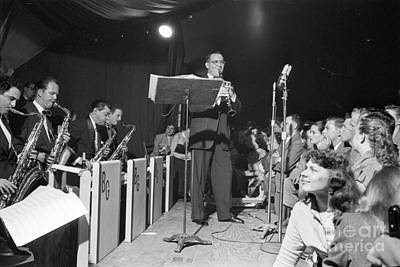 Benny Goodman And The Benny Goodman Orchestra Performing In 1953 Poster