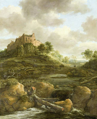 Bentheim Castle Poster by Jacob Isaacksz van Ruisdae