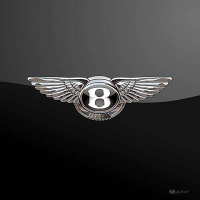Bentley - 3d Badge On Black Poster