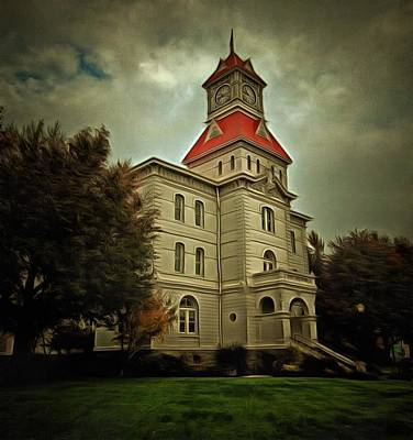 Benton County Courthouse Poster by Thom Zehrfeld