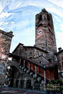 Bergamo Alta Poster by Paolo Bianchi
