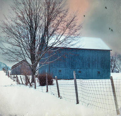 Berkshire Winter Blues Poster by Thomas Schoeller