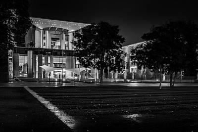 Berlin At Night - Chancellery - Kanzleramt Poster